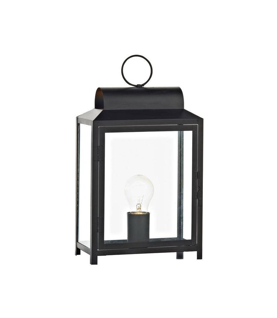 Dar BOX4222 Box Rectangle Table Lamp In Black-DC Lighting Ltd