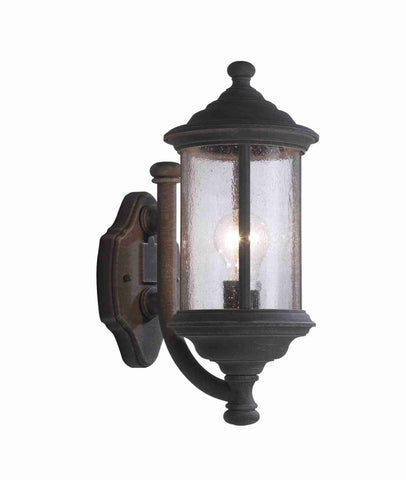 Dar BRO1661 BROMPTON Wall Light In Old Iron