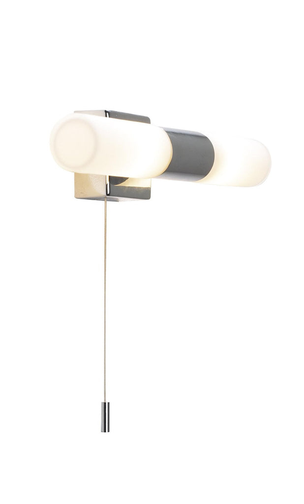 Dar BUE0950 BUENO Double Wall Light Polished Chrome IP44 G9 With OSRAM Bulbs-DC Lighting Ltd