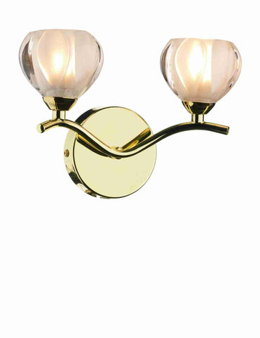 Dar CYN0940 CYNTHIA Double Wall Light Polished Brass