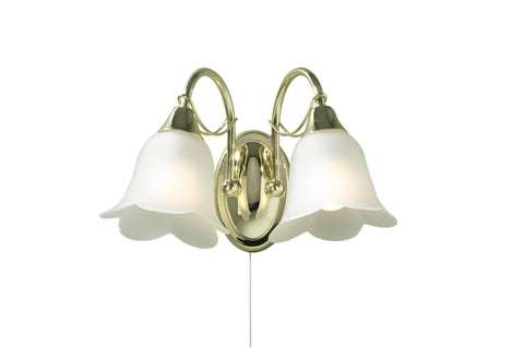 Dar DOU09 DOUBLET Double Wall Light With Glass
