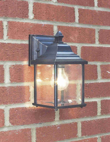Dar DOY1635 DOYLE Wall Bracket Lantern Black Gold