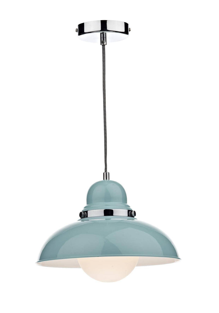 Dar DYN0123 DYNAMO 1lt Pendant Blue-DC Lighting Ltd