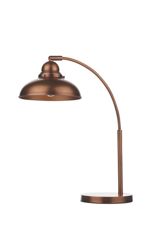 Dar DYN4264 Dynamo Table Lamp Antique Copper