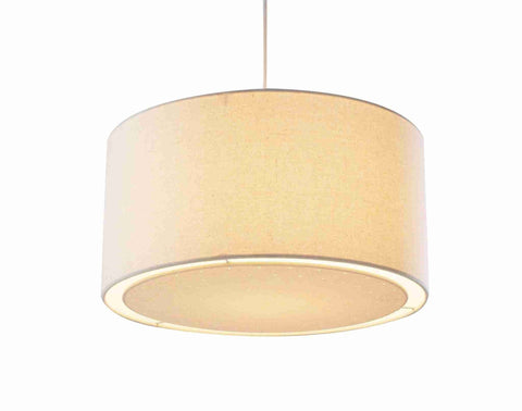 Dar EDW6533 EDWARD Non Electric Pendant Cream