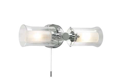 Dar ELB0950 ELBA Double Wall Light Polished Chrome IP44