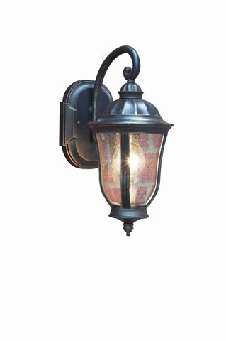 Dar JOH1635 JOHNSON Wall Bracket Lantern Black Gold