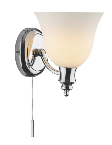 Dar OBO0750 OBOE Single Wall Light Polished Chrome IP44