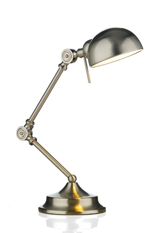 Dar RAN4046 RANGER Table Lamp Satin Chrome