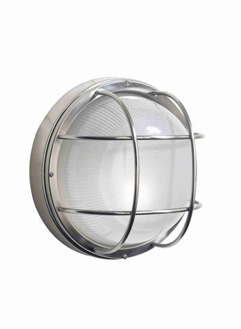 Dar SAL5044 SALCOMBE Large Round Outdoor Light Steel IP44