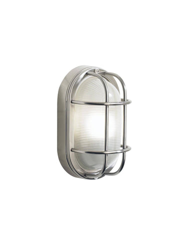 Dar SAL5244 SALCOMBE Small Oval Outdoor Light Steel IP44