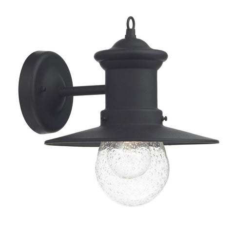 Dar SED1522 Sedgewick 1 Light Lantern Black Down Facing IP44