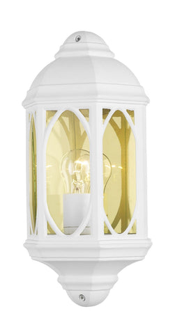 Dar TEN212 TENBY Outdoor Wall Light White IP43