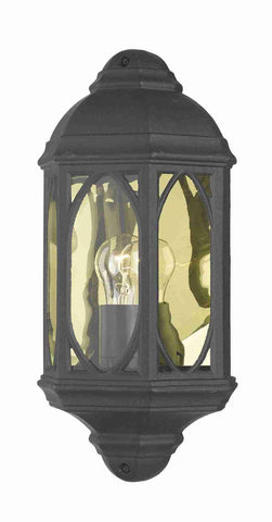 Dar TEN2122 TENBY Outdoor Wall Light Black IP43