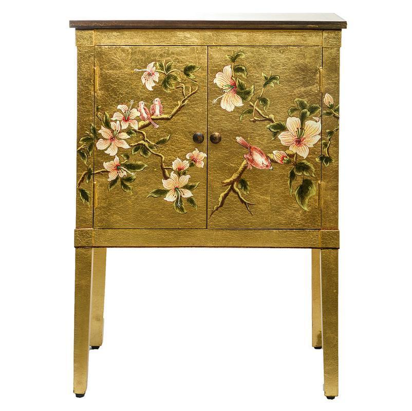 Dar The India Collection 001ISR001 Isra Cabinet Gold Leaf And Bird-Dar Lighting-DC Lighting Ltd
