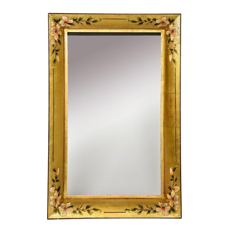 Dar The India Collection 002ISR7959 Isra Rectangle Mirror Gold 80 X 60cm-Dar Lighting-DC Lighting Ltd