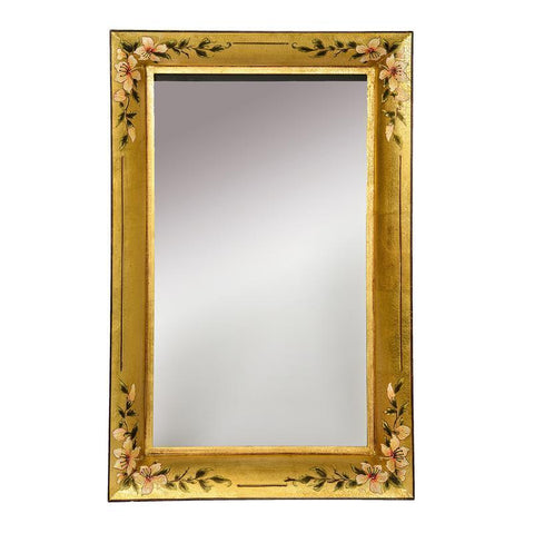 Dar The India Collection 002ISR7959 Isra Rectangle Mirror Gold 80 X 60cm