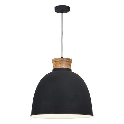 Dar The India Collection APH0139 Aphra 1 Light Pendant Dark Grey