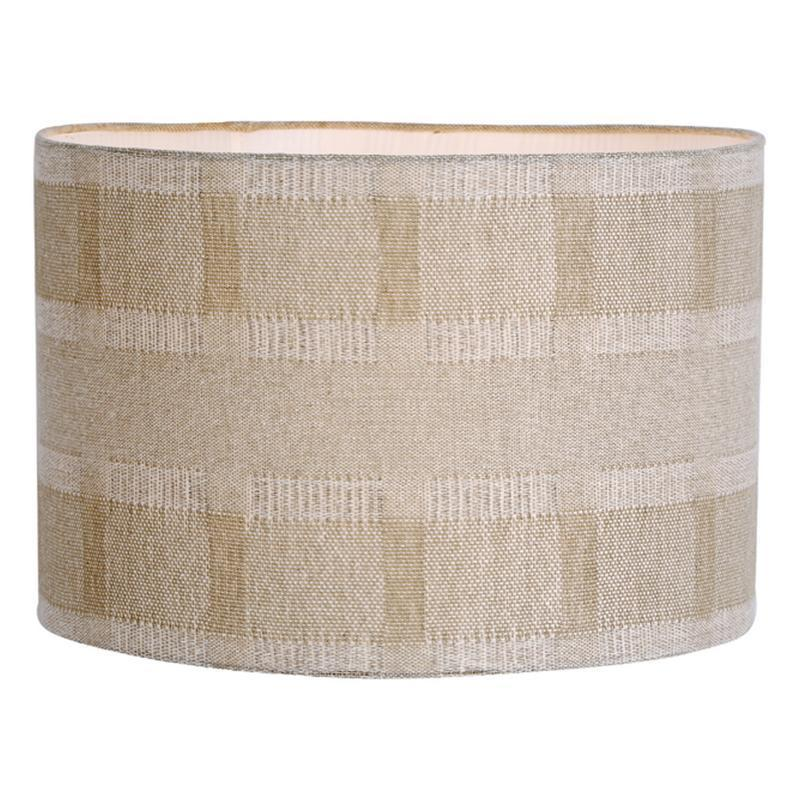 Dar The India Collection AYL1629 Ayla Handloom Shade Taupe 40cm-Dar Lighting-DC Lighting Ltd