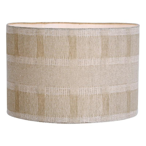 Dar The India Collection AYL1629 Ayla Handloom Shade Taupe 40cm