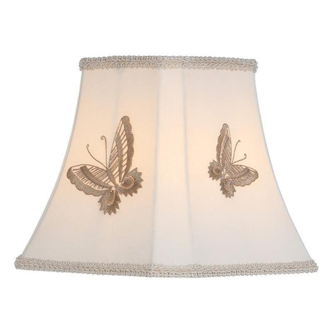 Dar The India Collection BUT0829 Butterfly Embroidered Butterfly Shade 21cm Taupe