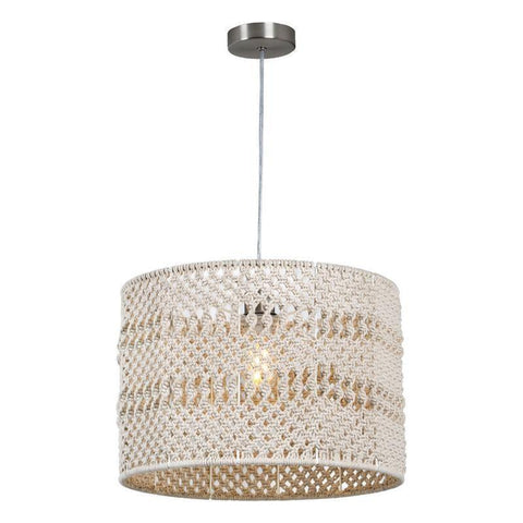 Dar The India Collection DEV1729 Devyn Easy Fit Macrame Shade Natural Sizes