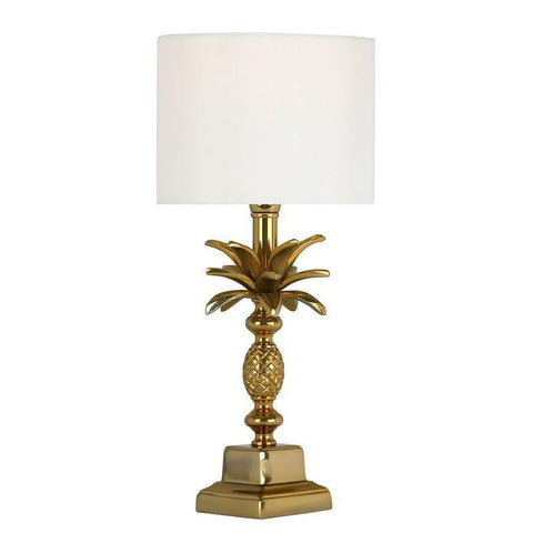 Dar The India Collection SIB4135 Sibilla Table Lamp Small Antique Gold Base Only