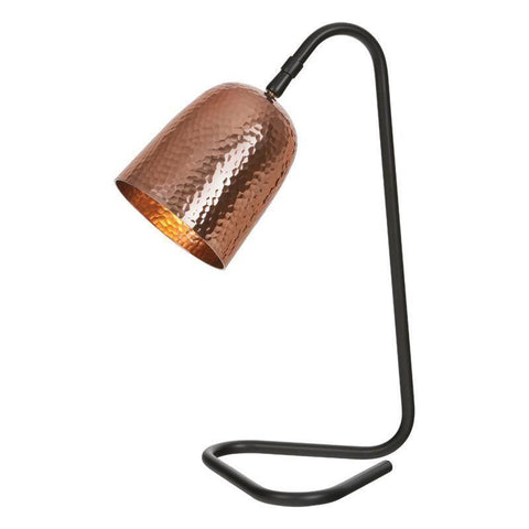 Dar The India Collection ULR4164 Ulrik Table Lamp Copper Black
