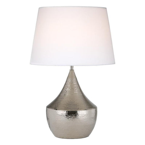 Dar The India Collection VOR4238 Vorana Table Lamp Nickel Base Only