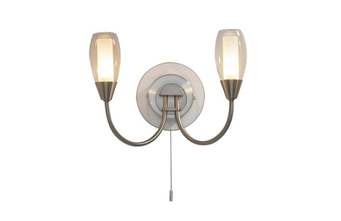 Dar TUG0946 TUGEL Double Wall Light G9 Satin Chrome