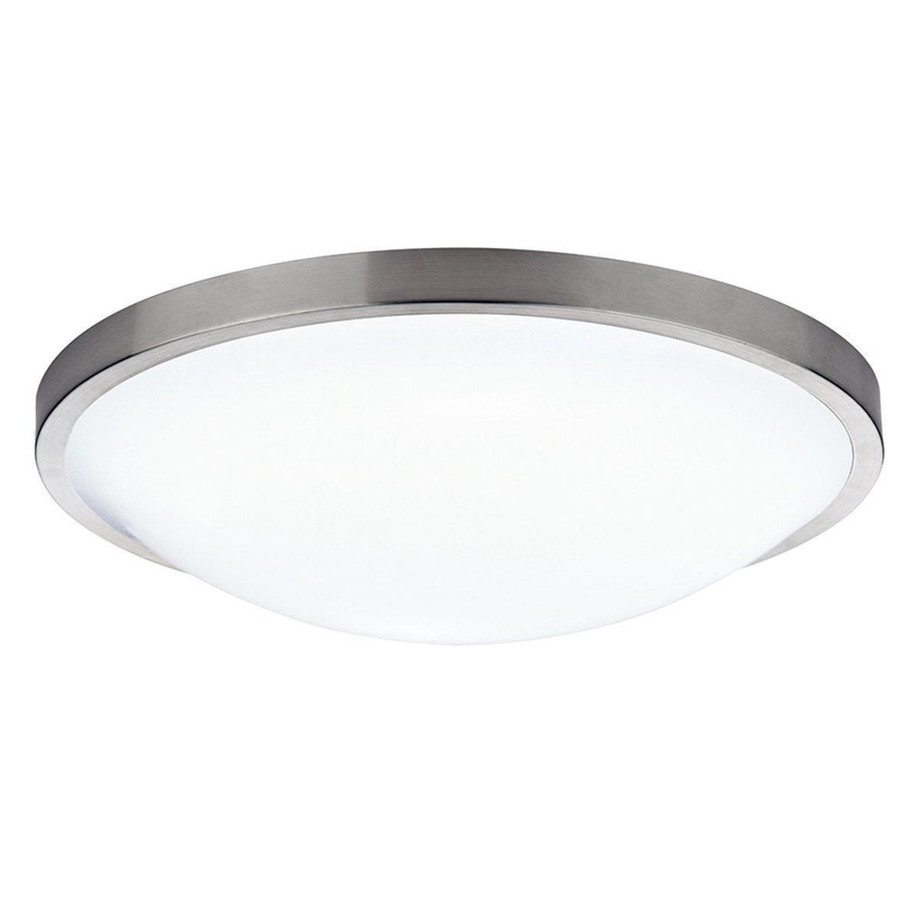 Dar Wisebuys DOV5246 Dover Round Acrylic Flush IP44 Satin Chrome-DC Lighting Ltd