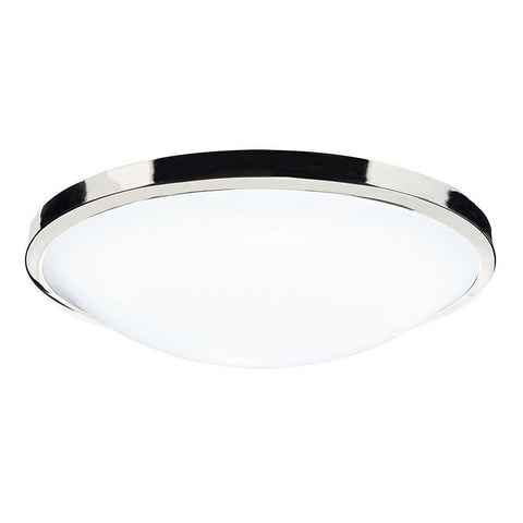 Dar Wisebuys DOV5250 Dover Round Acrylic Flush IP44 Polished Chrome