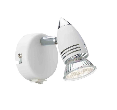 Dar Wisebuys GEM072S Gemini Single Wall Bracket White GU10 Lamp Included
