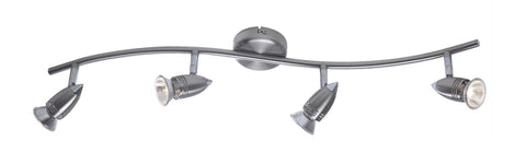 Dar Wisebuys GEM8446 Gemini 4 Light Wave Bow Satin Chrome