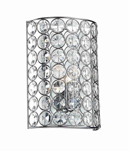 Dar Wisebuys GIR0750 Girona 1 Light Wall Bracket Polished Chrome