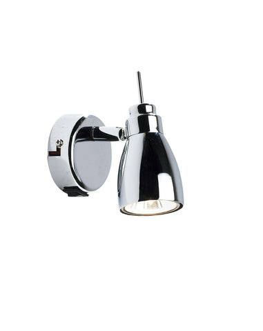 Dar Wisebuys HOU0750 Houston GU10 Single Wall Bracket complete with Switch Polished Chrome