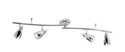 Dar Wisebuys HOU8450 Houston GU10 4 Light Swivel Polished Chrome