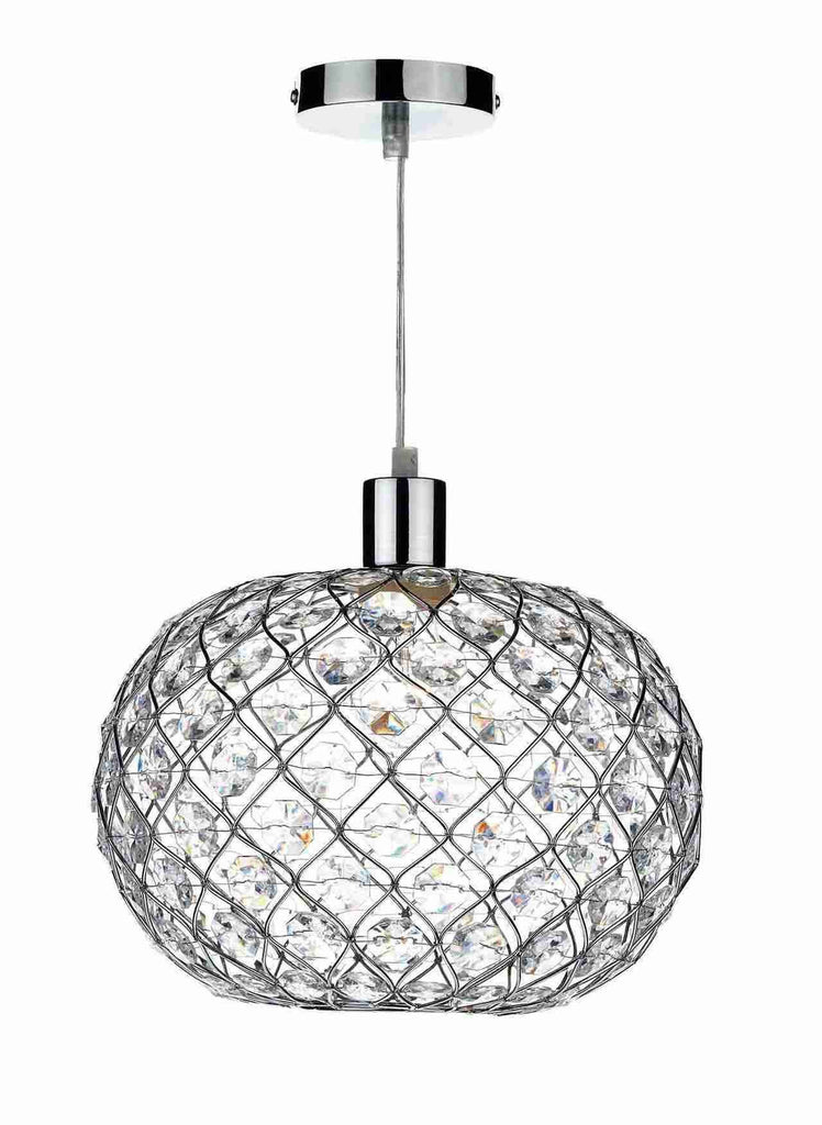 Dar Wisebuys JUA6550 Juanita Non Elec Polished Chrome-DC Lighting Ltd