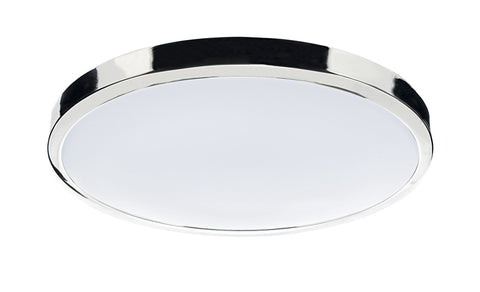 Dar Wisebuys OBA4850/38LE Oban Round Acrylic Flush 38W 2D 2700K IP44 Polished Chrome
