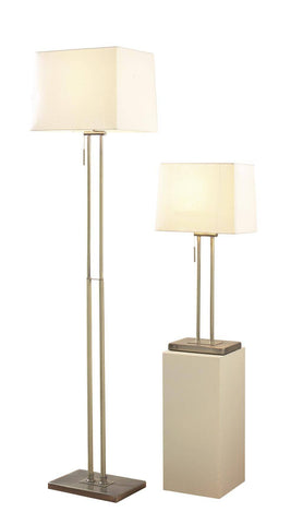 Dar Wisebuys PIC4975 Picasso Floor Lamp & Table Lamp Twin Antique Brass
