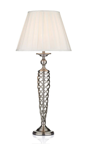 Dar Wisebuys SIA4246 Siam Table Lamp complete with Shade Satin Chrome