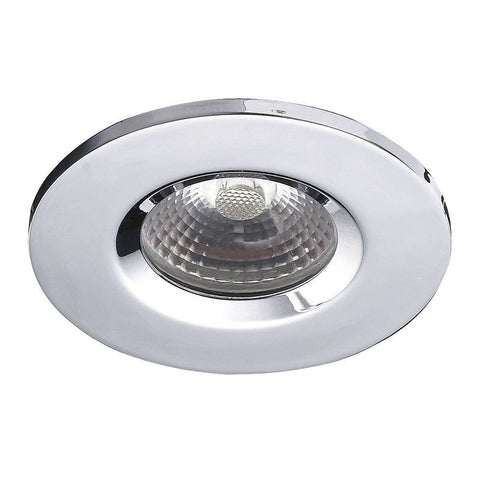 Dar Wisebuys VEG9650 Vega 8W LED Downlight IP65 Fixed Head Polished Chrome
