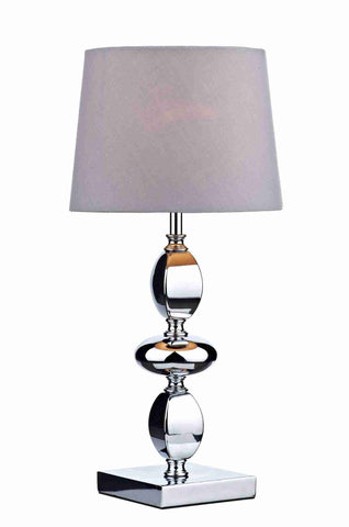 Dar Wisebuys WIC4150 Wickford Table Lamp Small Polished Chrome complete with Shade