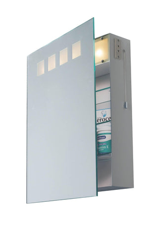 Dar Wisebuys ZEU94 Zeus Bathroom Cabinet complete with Shaver Socket IP44