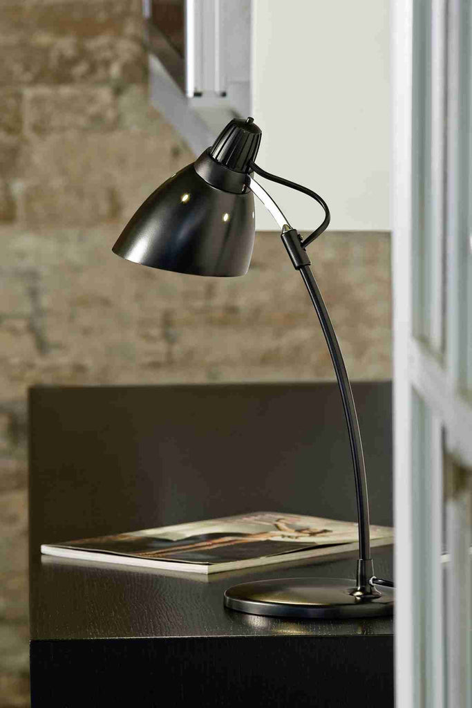 Eglo Lighting 7059 TOP DESK TL E27 black 'TOP DESK'-Eglo Lighting-DC Lighting Ltd