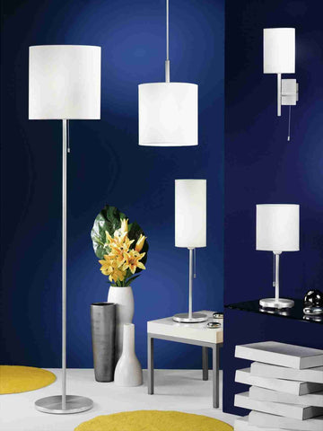 Eglo Lighting 82813 SENDO FL/1 H-1530 alu/beige 'SENDO'