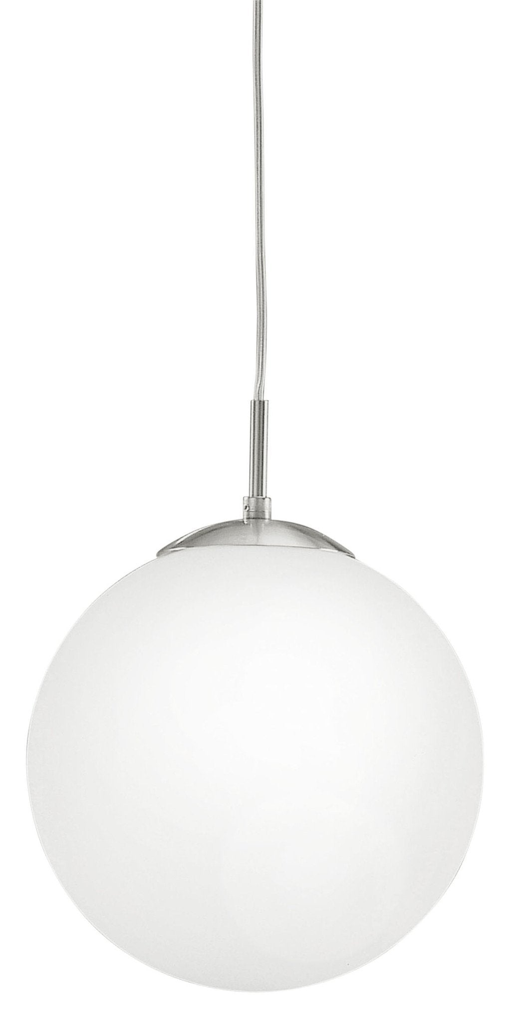 Bemerkenswert Nickel Matt Dekoration Von Eglo Lighting 85262 Rondo Hl/1 Dm250 Nickel-matt/opal-matt