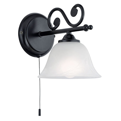Eglo Lighting 91006 MURCIA Single Wall Light black/alabaster MURCIA