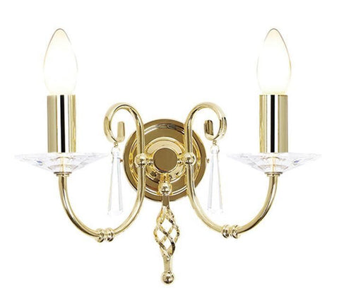 Elstead AG2 POL BRASS Aegean 2Lt Wall Light Polished Brass