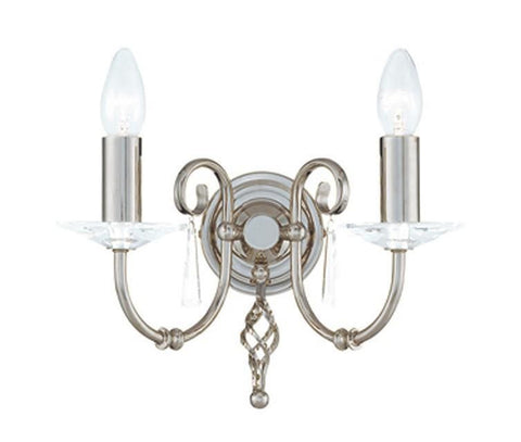 Elstead AG2 POL NICKEL Aegean 2Lt Wall Light Polished Nickel